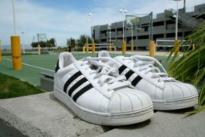 http://www.flickr.com/photos/99527366@N00/2450193970/ David Filo's signature Adidas sneaks